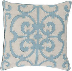Surya Amelia Pillow Al-002 Sky Blue
