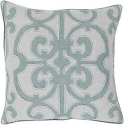 Surya Amelia Pillow Al-003 Teal/Light Grey
