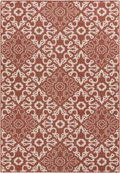 Surya Alfresco ALF-9636 Beige / Red Area Rug