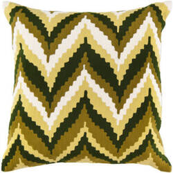 Surya Pillows AR-052 Green/Ivory