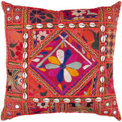 Surya Pillows AR-070 Red/Multi