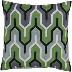 Surya Aztec Pillow Ar-114 Green