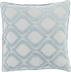 Surya Alexandria Pillow Ax-006 Aqua/Grey