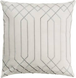 Surya Skyline Pillow Ba-015 Ivory/Gray