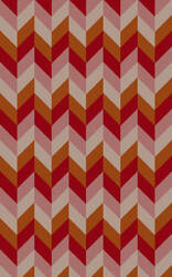 Surya Bali BAL-1931 Cherry / Orange / Violet (purple) / Pink Area Rug