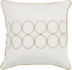 Surya Pillows BCO-510 Ivory/Gold