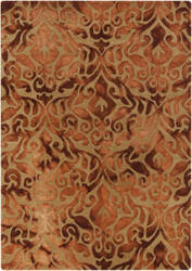 Surya Belladonna Bda-3002 Burnt Orange Area Rug