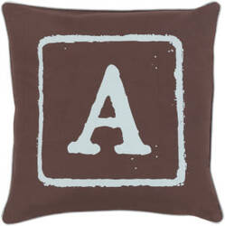 Surya Big Kid Blocks Pillow Bkb-027 Brown/Aqua