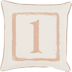 Surya Big Kid Blocks Pillow Bkb-037 Camel