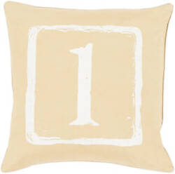 Surya Big Kid Blocks Pillow Bkb-039 Wheat