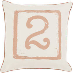 Surya Big Kid Blocks Pillow Bkb-044 Camel