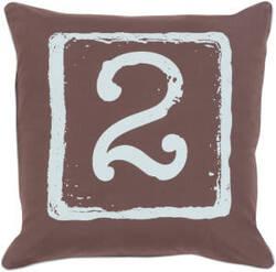 Surya Big Kid Blocks Pillow Bkb-048 Brown/Aqua