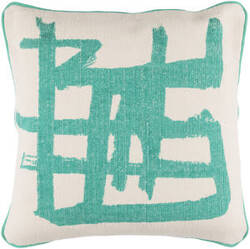Surya Bristle Pillow Bt-007 Emerald