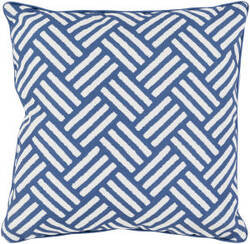 Surya Basketweave Pillow Bw-001 Blue