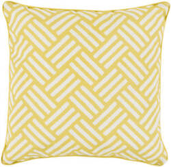 Surya Basketweave Pillow Bw-003 Yellow