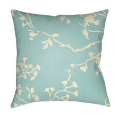 Surya Chinoiserie Floral Pillow Cf-006