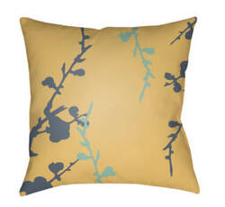 Surya Chinoiserie Floral Pillow Cf-014