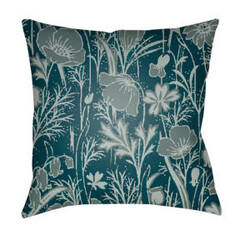 Surya Chinoiserie Floral Pillow Cf-036