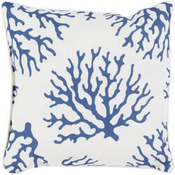 Surya Coral Pillow Co-001 Blue