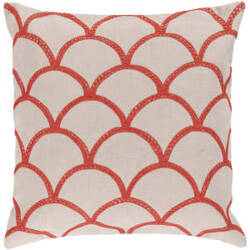 Surya Pillows COM-009 Ivory/Poppy