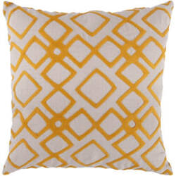 Surya Pillows COM-016 Tangerine/Ivory