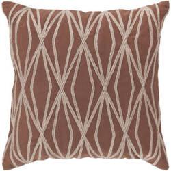 Surya Pillows COM-021 Burgundy/Beige
