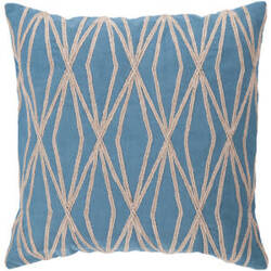 Surya Pillows COM-022 Aqua/Beige