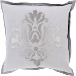 Surya Cosette Pillow Ct-001 Grey