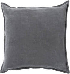 Surya Cotton Velvet Pillow Cv-003 Grey