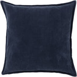 Surya Cotton Velvet Pillow Cv-009 Charcoal