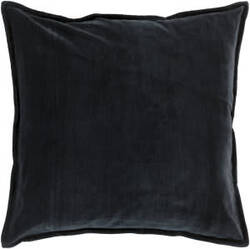 Surya Cotton Velvet Pillow Cv-012 Black