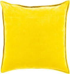 Surya Cotton Velvet Pillow Cv-020 Mustard