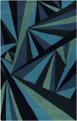 Rugstudio Sample Sale 88147R Midnight Blue Area Rug
