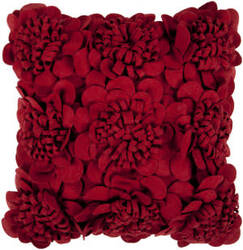 Surya Pillows FA-084 Burgundy