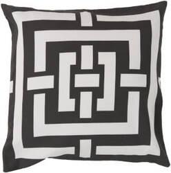 Surya Circles & Squares Pillow Fb-003 Black