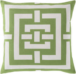 Surya Circles & Squares Pillow Fb-004 Lime