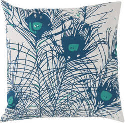 Surya Peacock Feathers Pillow Fb-014 Teal