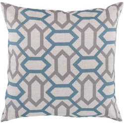 Surya Pillows FF-008 Teal/Light Gray