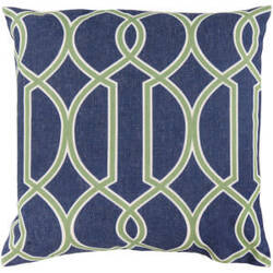 Surya Pillows FF-017 Cobalt/Forest