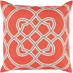 Surya Pillows FF-020 Poppy/Gray