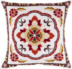 Surya Botanical Pillow Ff-025 Red/Brown