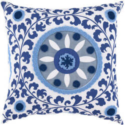 Surya Pillows FF-026 Cobalt/Slate