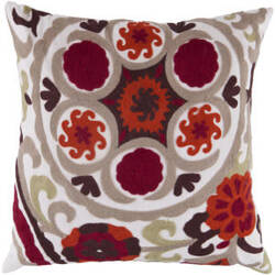 Surya Pillows FF-028 Burgundy/Taupe
