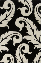 Surya Goa G-5133 Jet Black Area Rug