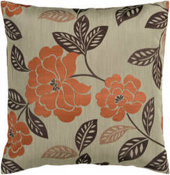 Surya Blossom Pillow Hh-053 Orange