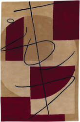 Custom Surya Naya Hst-3005 Red - Beige Area Rug
