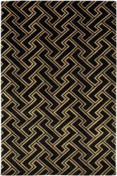 Surya Mugal IN-8046 Black Beige Tan Area Rug