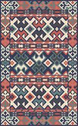 Surya Jewel Tone Ii JTII-2054 Ivory / Pink / Blue / Green Area Rug