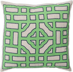 Surya Chinese Gate Pillow Ld-045 Green