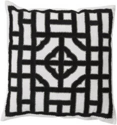 Surya Chinese Gate Pillow Ld-046 Black